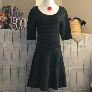 Candies sz L Ribbed Gray Sweater Dress